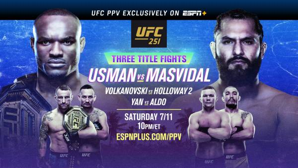 Where Can I Watch, Bet the Usman vs. Masvidal Fight UFC 251 From Omaha