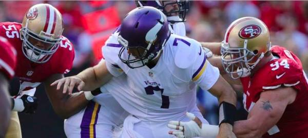 Vikings-49ers Monday Night Football Betting Line: Daily Fantasy Sports Picks