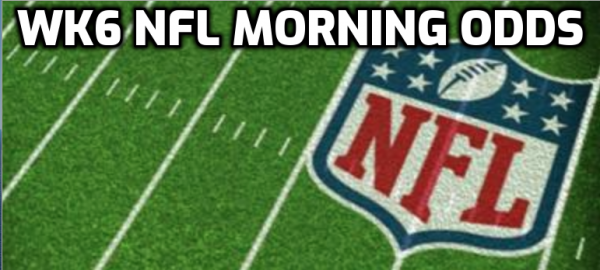 2020 Week 6 NFL Betting Odds, Action