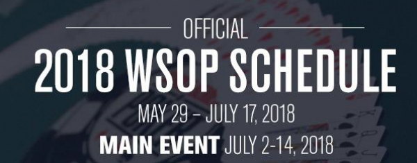 2018 World Series of Poker Schedule Released