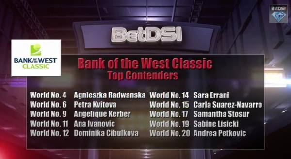 WTA Bank of the West Classic Betting Odds, Predictions From BetDSI.com‬
