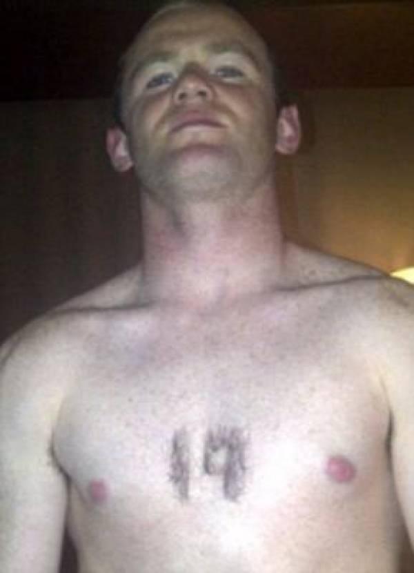 Wayne Rooney Chest Shaving Tweet