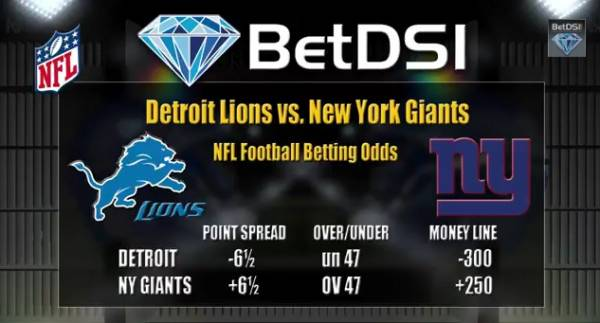 Where to Bet Monday Night Football – Giants vs. Lions Betting Line