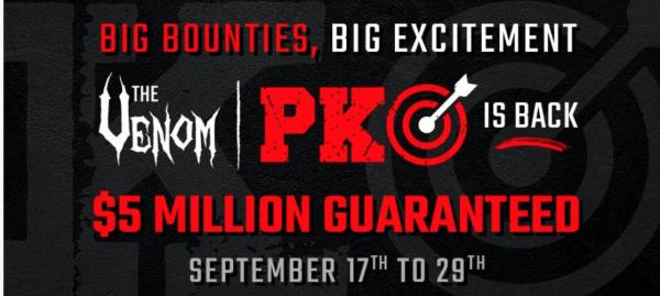 $5 Million GTD Venom PKO Tournament Kicks Off September 17