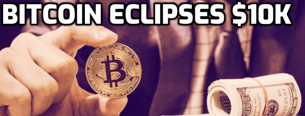 Bitcoin Eclipses $10K Mark, 'Halving' Searches Up 300 Percent