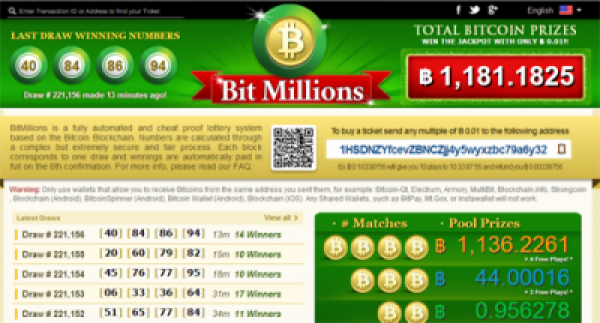 BitMillions.com is the first fully automated and cheat-proof lottery system that