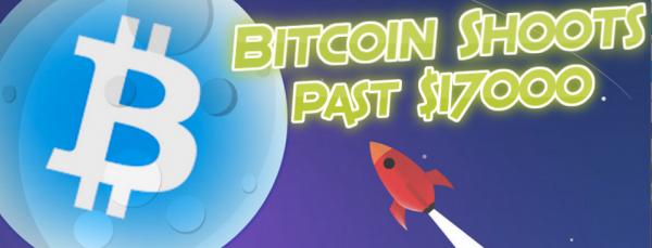 Price of Bitcoin Climbs Over 17K