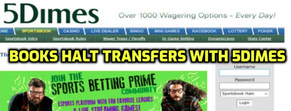 Books Stopping Transfers With 5Dimes