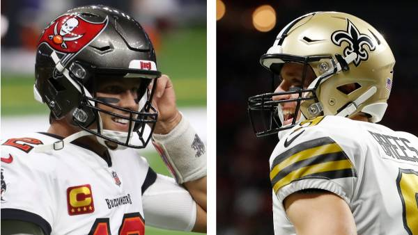 What is the Opening Line on the Bucs vs. Saints Playoff Game?