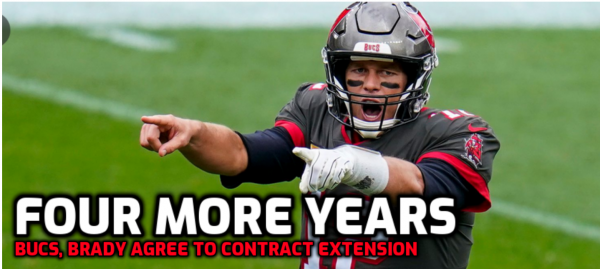 Bucs, Brady Agree to Four Year Contract Extension