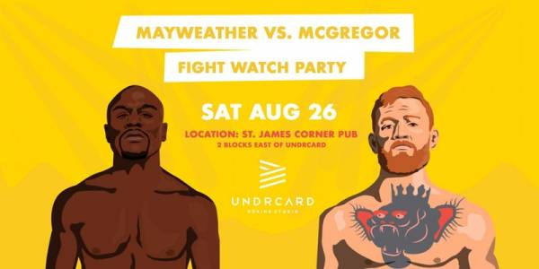 Where Can I Watch, Bet the Mayweather-McGregor Fight Calgary, Alberta