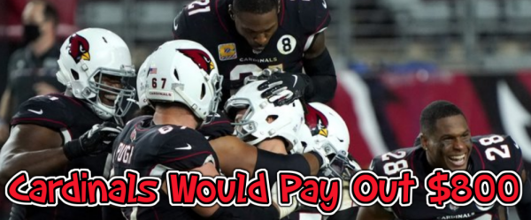 Cardinals Would Pay Out $800 With an NFC West Win 2020