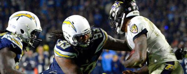 Bet the Chargers-Ravens Wildcard Game Online