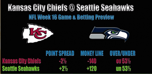 Kansas City Chiefs vs. Seattle Seahawks Betting Preview Week 16