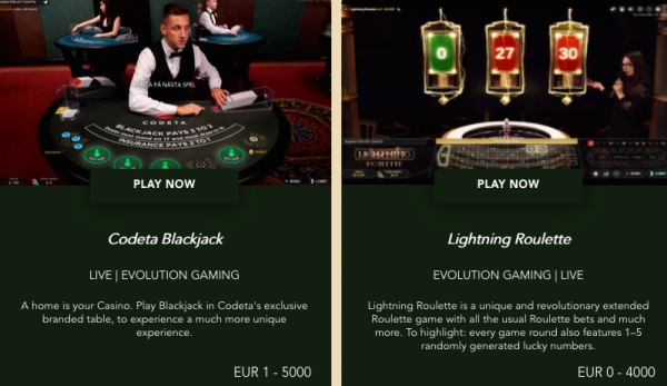 Codeta Online Casino Site Review