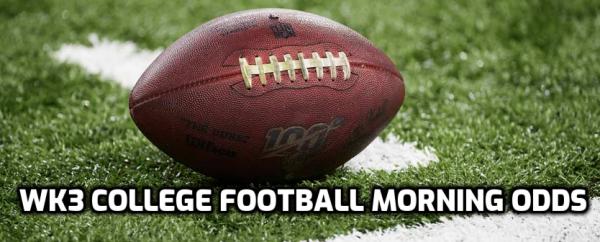 2020 Week 5 College Football Betting Odds