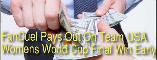FanDuel Pays Out Early on USA Winning 2019 Women's World Cup