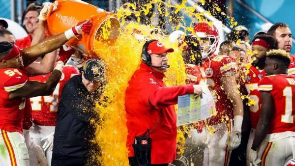 Color of the Gatorade Bath Prop Bet Payout - Super Bowl 2021 - Chiefs-Bucs