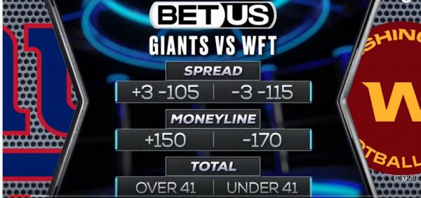 Giants Washington Football Team TNF Betting Preview