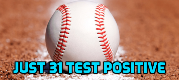 Only 31 MLB Players Test Positive - Some Anticipated Over 100