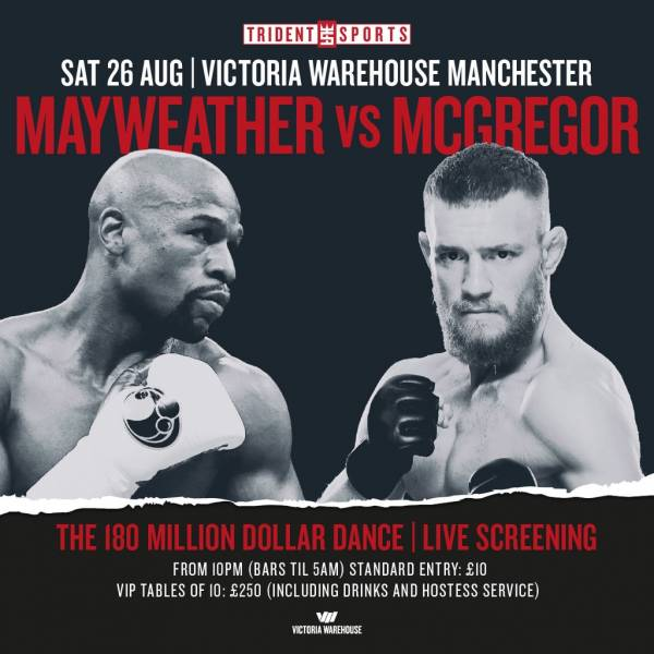 Where Can I Watch, Bet the Mayweather-McGregor Fight Manchester, England