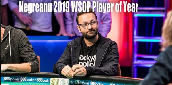 Kid Poker Daniel Negreanu is Crowned 2019 WSOP Player of the Year