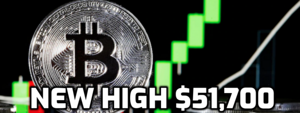 Bitcoin Jumps to New High of $51,700