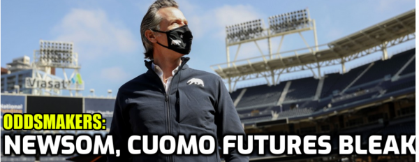 Cuomo, Newsom Futures Bleak According to Oddsmakers