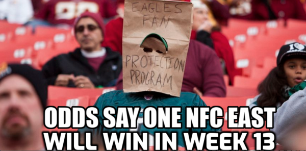 Odds Say One NFC East Team Will Win in Week 13