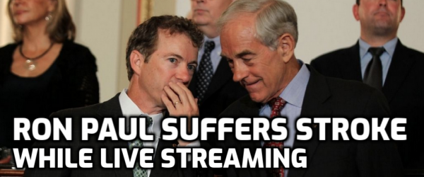 Online Gambling Champion Ron Paul Has Stroke on Live Stream
