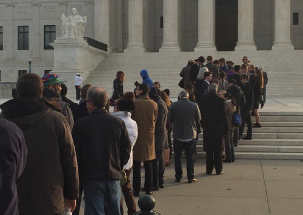 Reporters Line Up Outside Supreme Court to Hear NJ Sports Betting Case
