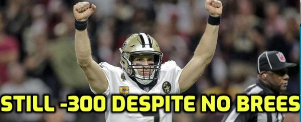 Saints Still -300 Favorites to Win NFC South Despite Brees Injury