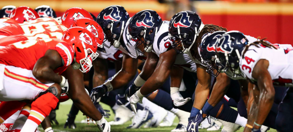 What is the Week 1 Line on the Texans vs. Chiefs Game