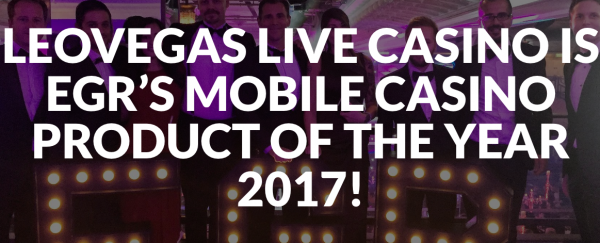Top Live Casino Mobile Product for 2017 Award Goes to LeoVegas