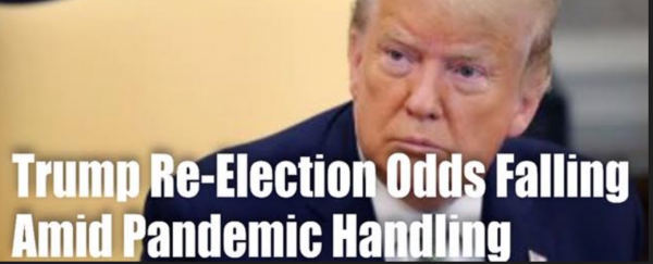 Trump's Re-Election Odds Dropping Amid Pandemic Handling