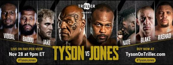 Where Can I Watch, Bet the Mike Tyson Vs. Jones Jr. Fight Columbia, South Carolina
