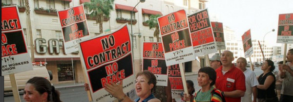 Vegas Casinos Cace Threat of 1st Worker Strike in 3 Decades