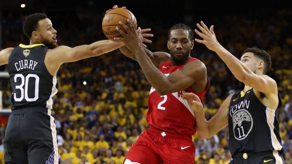 What is the Line on the Raptors-Warriors Game 6