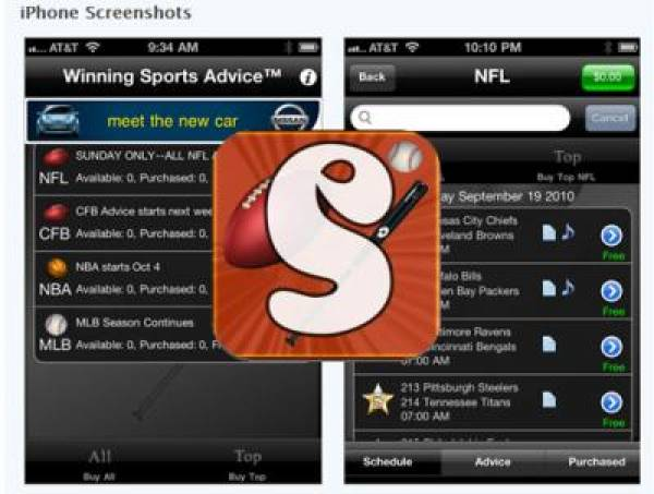 Winning Sports App for Mobile Phones Offers Picks