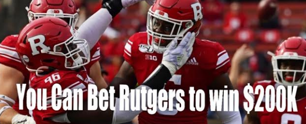 Where Can I Bet Rutgers on the Moneyline to Win $200,000?
