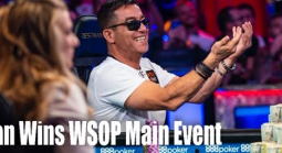 Hossein Ensan Wins the 2019 WSOP Main Event and $10 Million