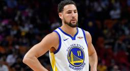Warriors' Klay Thompson Suffers Leg Injury, Severity Unclear