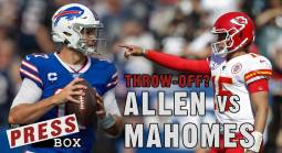 "Mahomes vs. Allen ""Throw-Off"" Odds"
