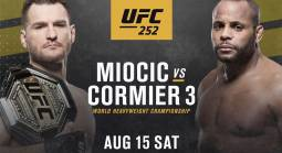 Where Can I Watch, Bet the Miocic vs Cormier 3 Fight UFC 252 From Cincinnati