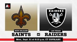 NFL Betting – New Orleans Saints at Las Vegas Raiders