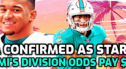 Dolphins Division Price Still 5-1 After Tua Confirmed as Starter