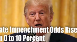 Senate Trump Impeachment Odds From 0 to 10 Percent and Climbing