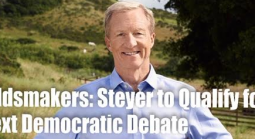 Tom Steyer to Qualify for Next Debate According to Oddsmakers
