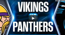 Vikings vs. Panthers Free Picks Video - October 17