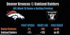 Denver Broncos vs. Oakland Raiders Betting Preview Week 16